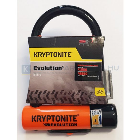 Kryptonite Evolution Mini-5 kerékpár u-lakat